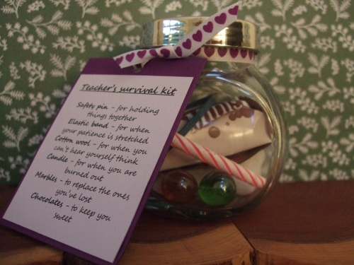 teacher survival kit jar